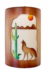 Coyote Sconce-Multi Colored
