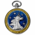 Celtic Pocket Watch Blue Unicorn PW73