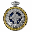 Celtic Pocket Watch Silver Cross PW75