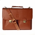 Hero Briefcase Eisenhower Series 275brn Better Than Leather