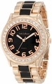 Rose-Gold-Black Two Tone Epoxy Bracelet Watch Jade LeBaum JB202745G
