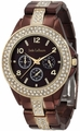 Chocolate Brown Embellished Bracelet Watch Jade LeBaum JB202747G