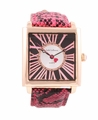 Jade LeBaum Ladies JB202873G Hot Pink Leather Strap Watch