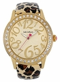 Jade LeBaum Womens JB202870G Leopard Pattern Fashion Wrist Watch