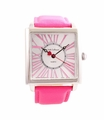 Jade LeBaum Womens JB202871G Pink Square Face Fashion Watch