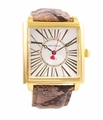 Jade LeBaum Womens JB202875G Brown Square Face Fashion Watch