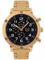 Kronwerk AQ202793G Gold Tone Bracelet Black Dial Large Face Mens Watch