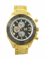 Kronwerk AQ202823G Gold Tone Steel Bracelet Multifunction Mens Watch