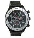 Kronwerk AQ202827G Black Mesh Band Large Face Multifunction Mens Watch
