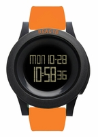 REACT! RA3030 LED Sport Orange Silicone Band Mens Watch