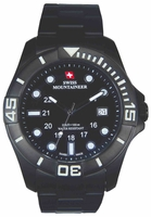 Swiss Mountaineer SM8021 Stainless Steel Black Dial Mens Watch