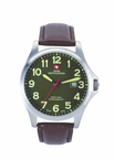 Swiss Mountaineer SM8032 Large Green Easy Read Dial Mens Watch