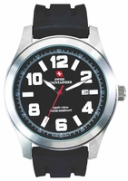 Swiss Mountaineer SM8040 Black Silicone Rubber Band Mens Watch