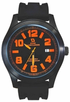 Swiss Mountaineer SM8041 Black Silicone Rubber Band Mens Watch