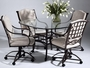 Chintaly Imports Anita Glass Table 5 Piece Dining Set