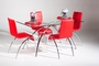 Chintaly Imports Elaine 5 Piece Glass Dining Set