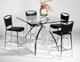 Chintaly Imports Elaine 5 Piece Glass Top Pub Table Set