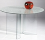Chintaly Imports Sandwich Glass Top Table