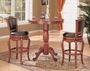 Coaster 3 Piece Pub Table Dining Set in Cherry