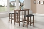 Coaster 3 Piece Pub Table Set in Nut Brown