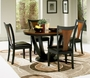 Coaster 5 Piece Boyer Round Dining Table Set- Black & Cherry