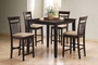 Coaster 5 Piece Counter Height Dining Set - Cappuccino