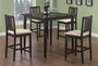 Coaster 5 Piece Counter Height Dining Set in Cappuccino Finish