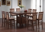 Coaster 5 Piece Counter Height Dining Set in Walnut Finish