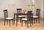 Coaster 5 Piece Dining Room Set in Cappuccino Finish