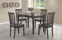 Coaster 5 Piece Dining Room Set in Deep Cappuccino