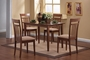 Coaster 5 Piece Dining Room Set in Walnut Finish