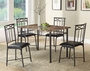 Coaster 5 Piece Dining Room Set with Metal Base
