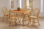 Coaster Tile Top 5 Piece Dining Table Set in Natural Finish