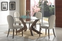 Coaster 5 Piece Glass Top Dining Room Set - Medium Walnut