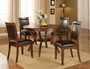 Coaster 5 Piece Nelms Round Dining Room Set- Walnut