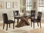 Coaster 5 Piece Nessa Glass Top Dining Room Set with X Base