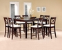Coaster 5 Piece Pryor Counter Height Dining Room Set in Cappuccino