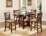 Coaster 5 Piece Pub Counter Height Table Set in Cherry