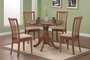 Coaster 5 Piece Round Dining Table Set in Oak Finish