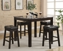 Coaster 5 Piece Sofie Counter Height Dining Set - Cappuccino