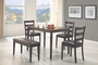 Coaster 5 Piece Tavaral Dining Room Set in Dark Cappuccino