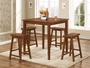 Coaster 5 Piece Yates Counter Height Pub Table Set in Dark Walnut