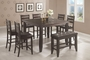 Coaster 6 Piece Counter Height Dining Room Set in Dark Cappuccino
