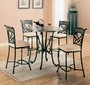 Coaster Ardith 5 Piece Round Counter Height Dining Room Set