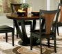 Coaster Boyer Round Dining Table in Black & Cherry