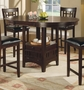 Coaster Counter Height Dining Table in Dark Cappuccino