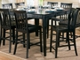 Coaster Counter Height Dining Table in Rich Black Finish