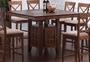 Coaster Counter Height Dining Table in Walnut Finish