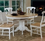 "Coaster Damen Oval Dining Room Table with 15"" Leaf - White/Natural"