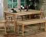 Coaster Damen Rectangular Dining Room Table in Natural Finish